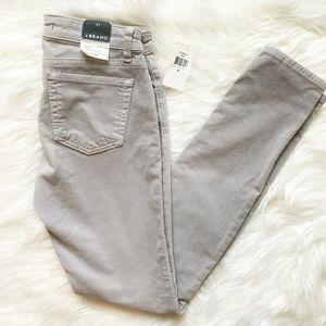 J Brand : Gray Skinny Cords Size 27 NWT